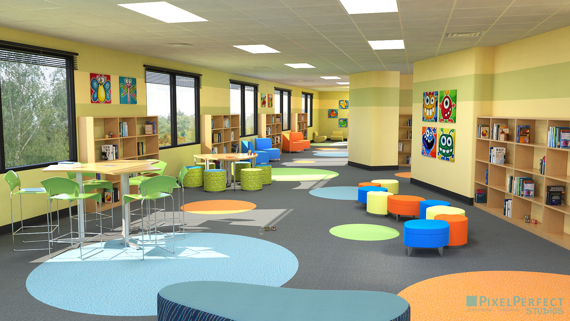 Pixel Perfect 3d Rendering Kids Daycare Playroom